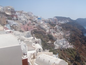 The view in Oia!