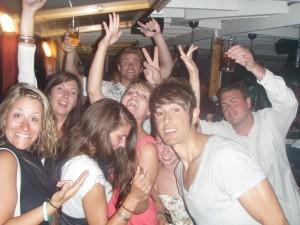 Last night partying!
